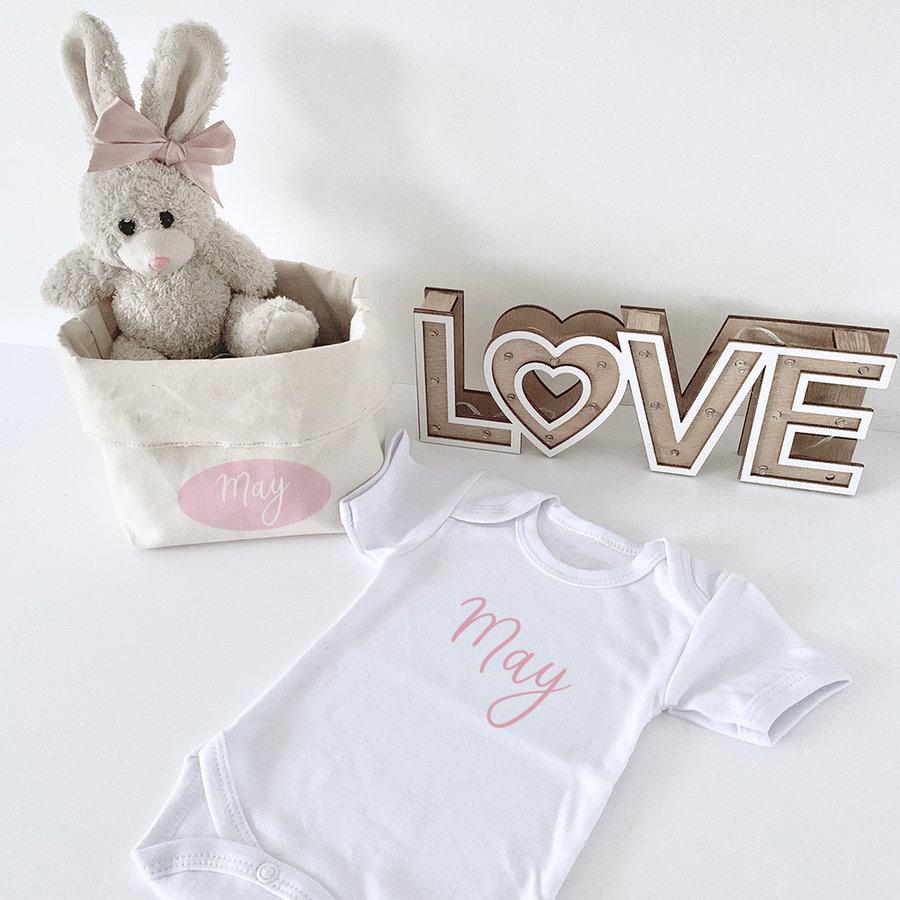 Geschenkset met beige konijntje-1