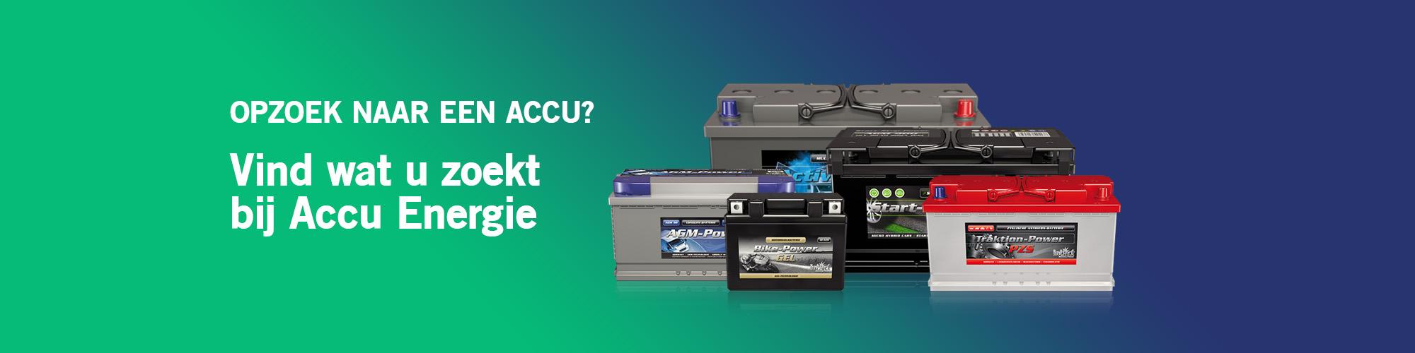 Accu Energie, de juiste accu voor alle soorten toepassing banner 2