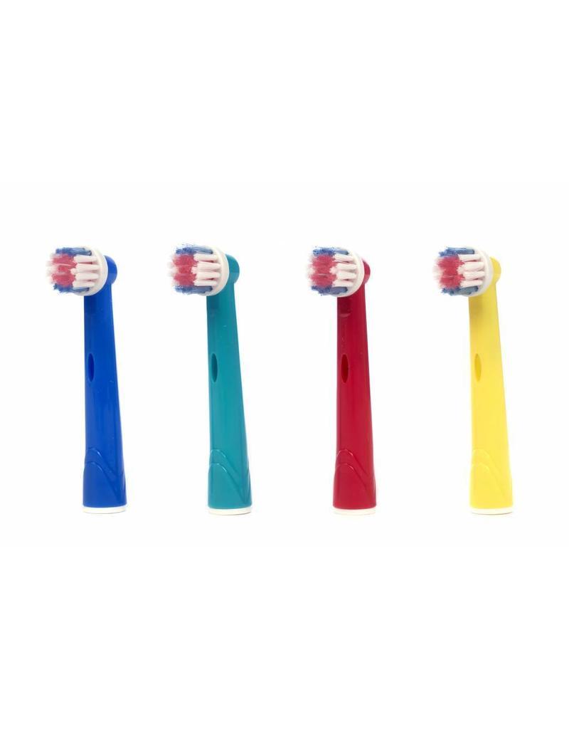 4 Opzetborstels voor kinderen voor Oral-B (gratis verzending)