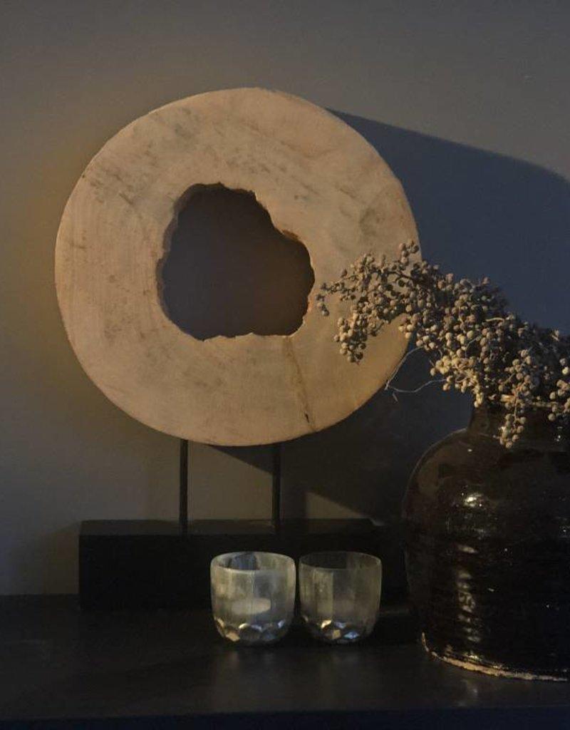Ornament Houten Wiel Op Statief