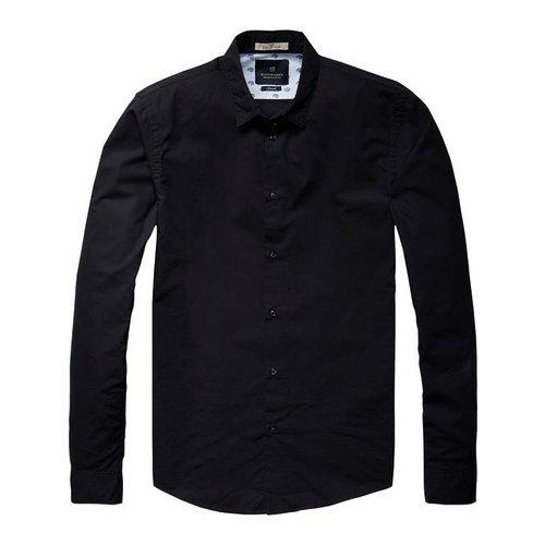 Scotch-Soda Classic Longsleeve Shirt in Cotton/Elastane Qualit