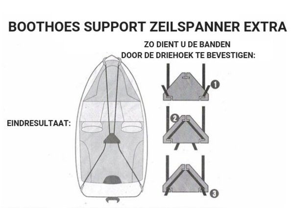 Zeilspanner Bootzeil Support Pole Extra