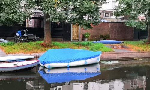 Bootzeil Afdekzeil 600D Luxe Blauw - Kajuitboot Lanaverre Menhir