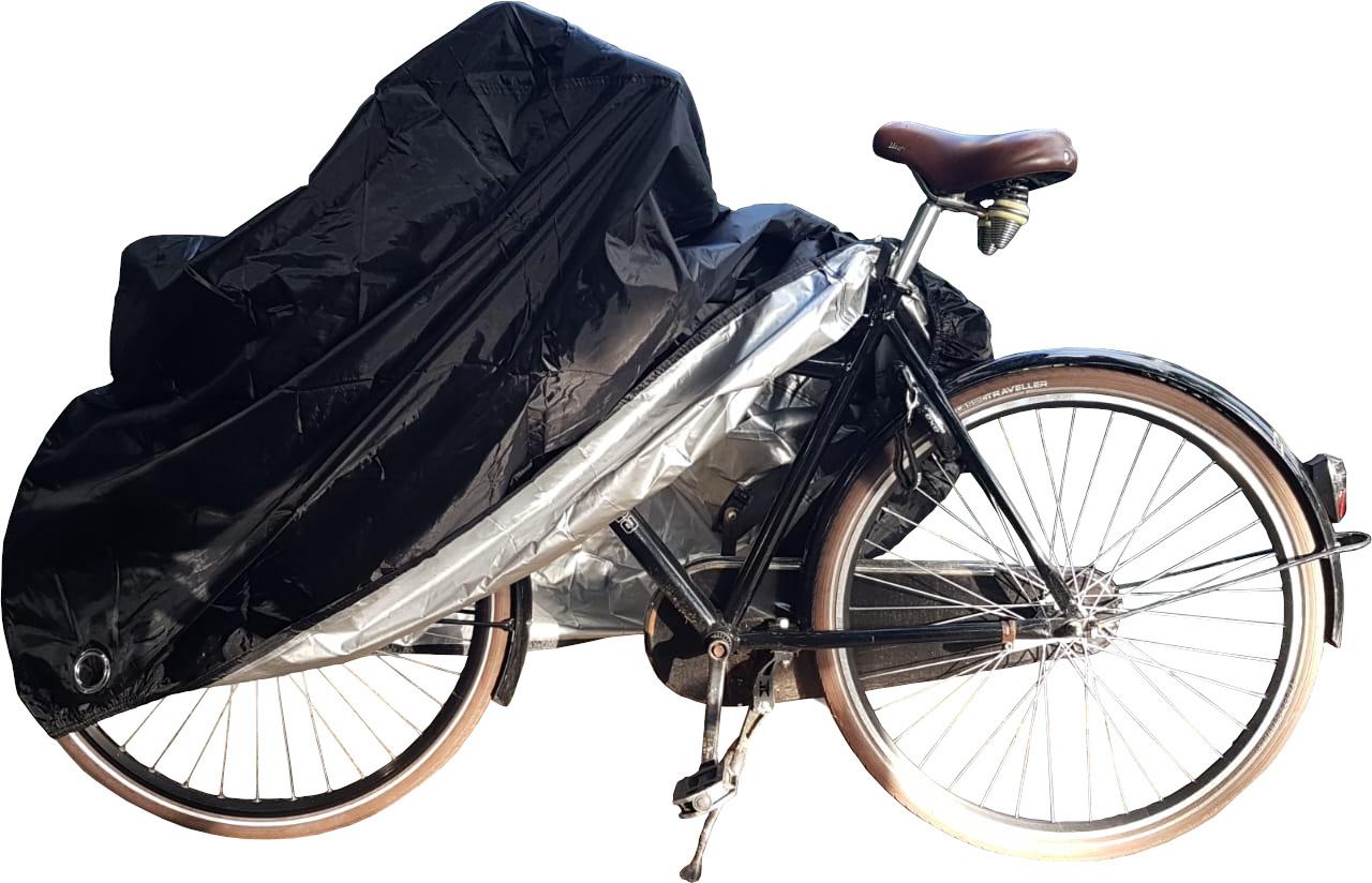 Fietshoes fiets is universeel en voorzien van elastiek waardoor de hoes altijd goed sluitend is.