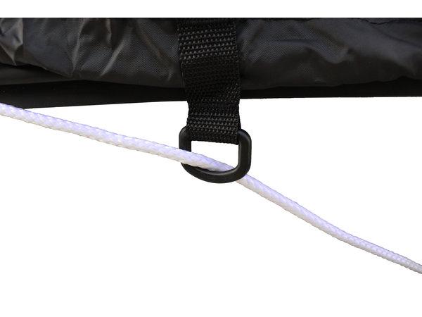 Rubberboothoes Zwart Afdekzeil 200D
