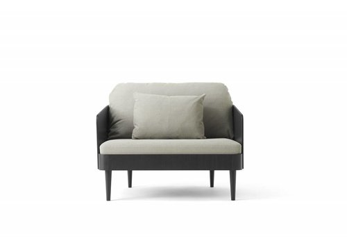 Menu Septembre Loveseat Black Ash/ Light Grey