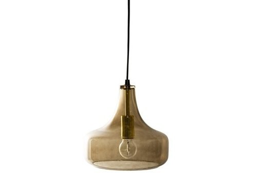 Bloomingville collectie Bloomingville Hanglamp Brown Glass