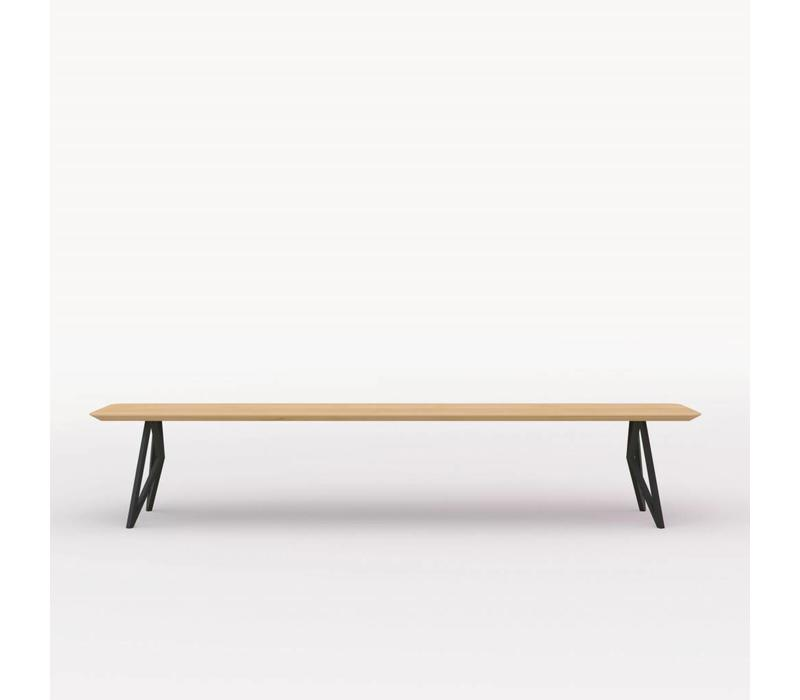 Butterfly Bench Natural Black