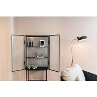 ferm LIVING Haze Vitrine Zwart Wired Glass
