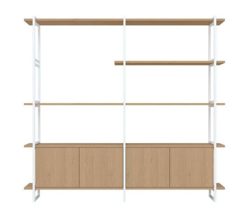 Studio HENK Modulaire Wandkast MC-5L Wit Frame