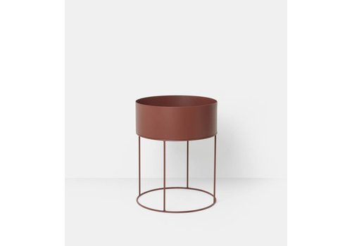 ferm LIVING collectie Plant Box Round - Red Brown