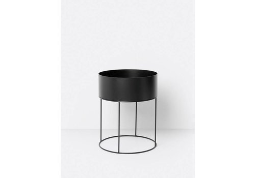 ferm LIVING collectie Plant Box Round - Black