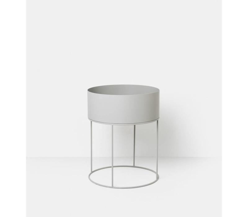 Plant Box Round - Light Grey