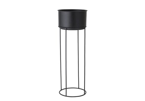Bloomingville collectie Flowerpot Black Metal