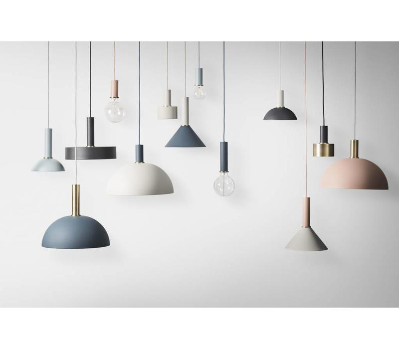 ferm LIVING Dome Hanglamp Socket Low Brass - Dome Shade