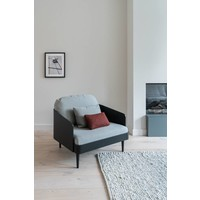 Septembre Loveseat Black Ash/ Light Grey