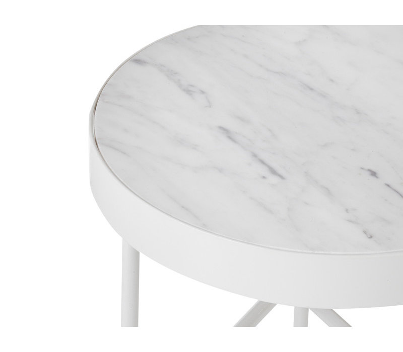 ferm LIVING Marble Wit Large