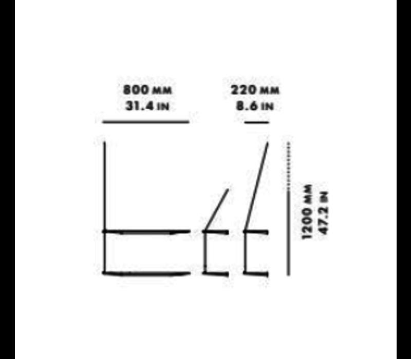 WOUD Stedge Wandrek Smal 60cm