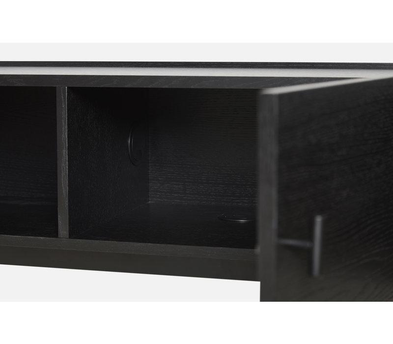 WOUD Array TV-dressoir Zwevend Zwart Eiken