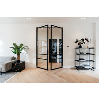Studio HENK MC-4L Modular Cabinet Zwart Frame Zwarte Planken