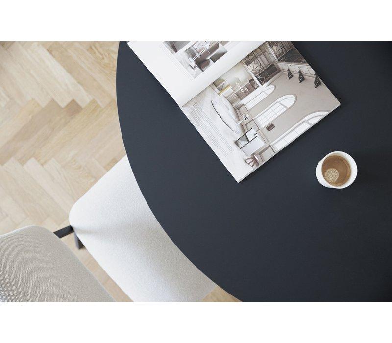 Studio HENK Butterfly Eettafel Rond HPL Fenix Nero Ingo 0720