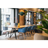 Studio Henk Butterfly Eettafel Zwart Frame Verjongd Blad
