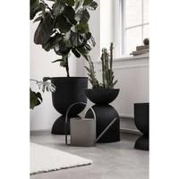 ferm LIVING Hourglass Pot Large Zwart