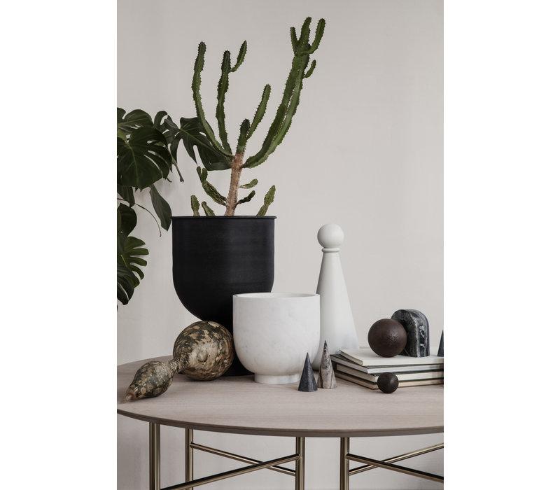 ferm LIVING Hourglass Pot Small Zwart