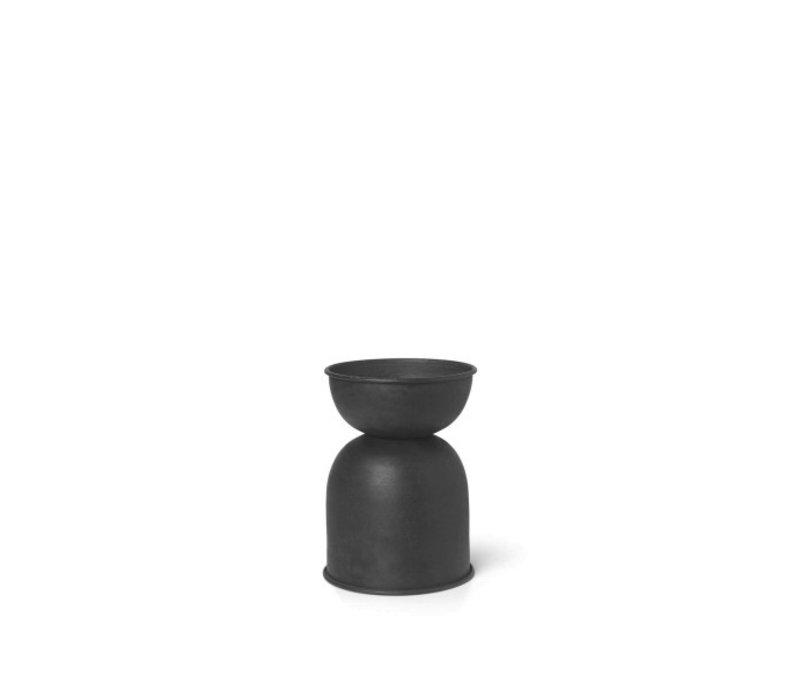 ferm LIVING Hourglass Pot Extra Small Zwart