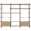 Studio HENK Studio HENK Modulaire Wandkast MC-6L Zwart Frame Natural Light Hardwax Planken