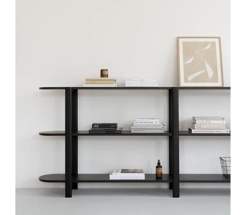 Studio HENK Oblique Cabinet OB-3L Zwart Frame / Zwarte Beits