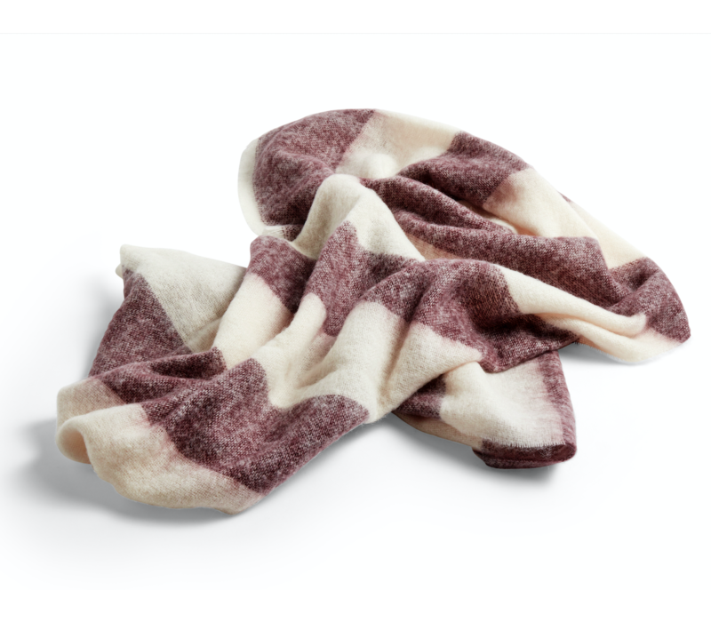 HAY Mohair Plaid Blanket Burgundy 180 x 120cm