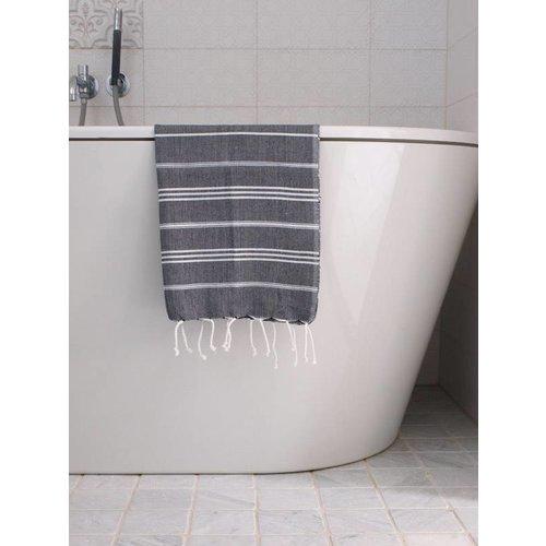Ottomania hammam handdoek Ottomania 50x100cm zwart