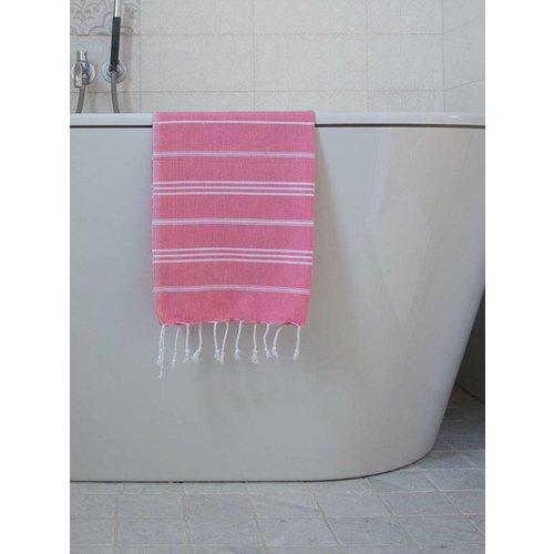 Ottomania hammam handdoek Ottomania 50x100cm zuurstokroze