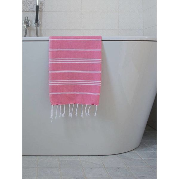 hammam handdoek Ottomania 50x100cm zuurstokroze - kleine hamamdoek