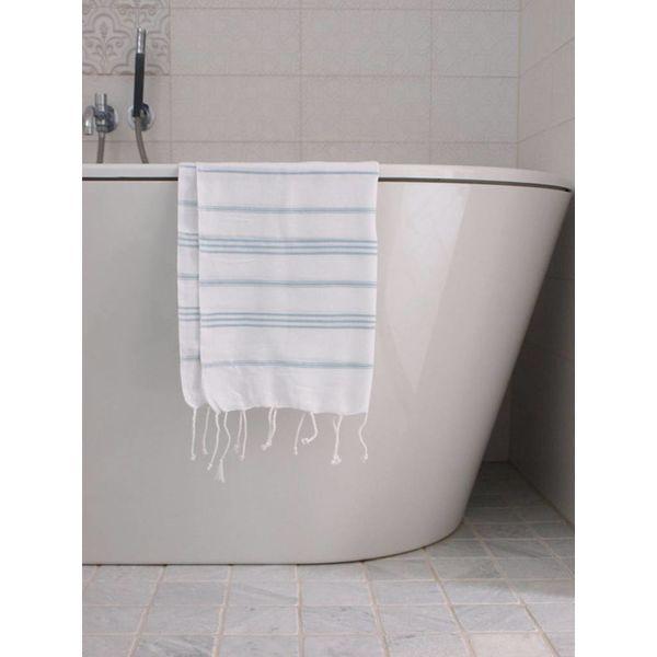 hammam handdoek Ottomania 50x100cm zeegroen - kleine hamamdoek