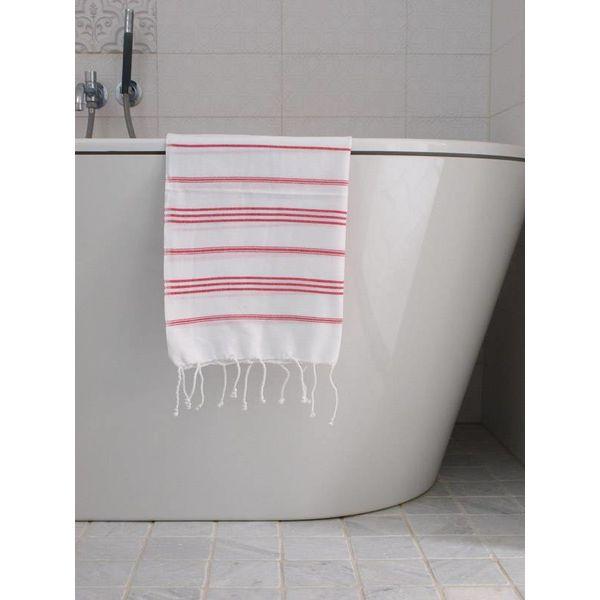 hammam handdoek Ottomania 50x100cm robijnrood - kleine hamamdoek