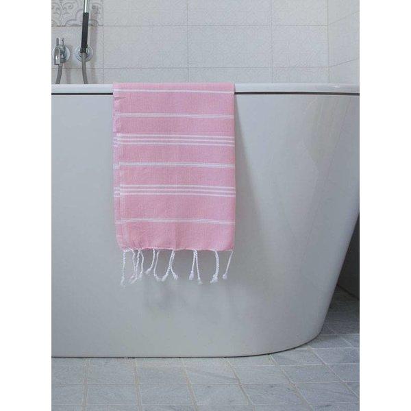 hammam handdoek Ottomania 50x100cm poederroze - kleine hamamdoek
