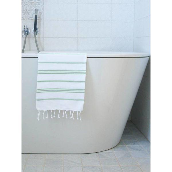 hammam handdoek Ottomania 50x100cm pistache - kleine hamamdoek
