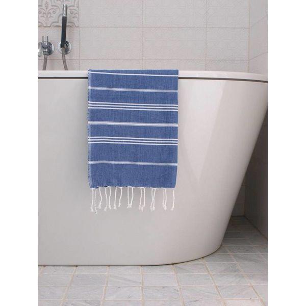 hammam handdoek Ottomania 50x100cm parlementblauw - kleine hamamdoek
