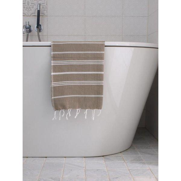 hammam handdoek Ottomania 50x100cm olijfgroen - kleine hamamdoek