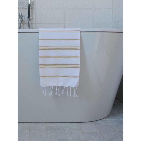 hammam handdoek Ottomania 50x100cm mosterd - kleine hamamdoek