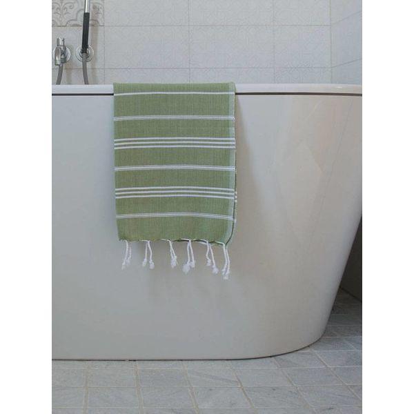 hammam handdoek Ottomania 50x100cm mosgroen - kleine hamamdoek