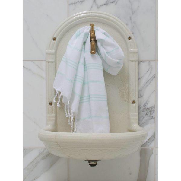 hammam handdoek Ottomania 50x100cm mint - kleine hamamdoek