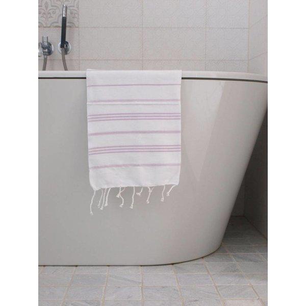 hammam handdoek Ottomania 50x100cm lichtlila - kleine hamamdoek