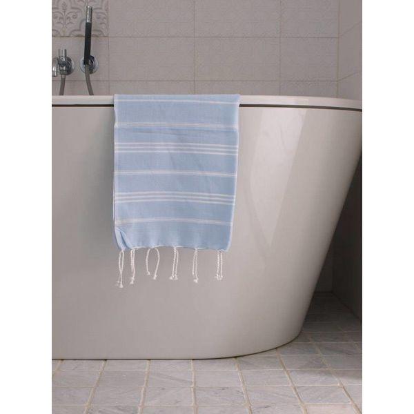 hammam handdoek Ottomania 50x100cm lichtblauw - kleine hamamdoek