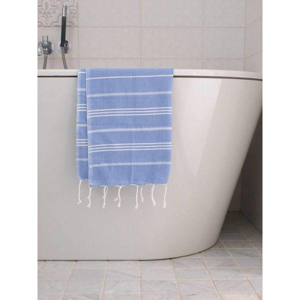 hammam handdoek Ottomania 50x100cm lavendelblauw - kleine hamamdoek