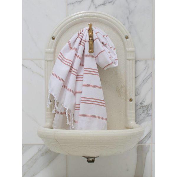 hammam handdoek Ottomania 50x100cm koper - kleine hamamdoek