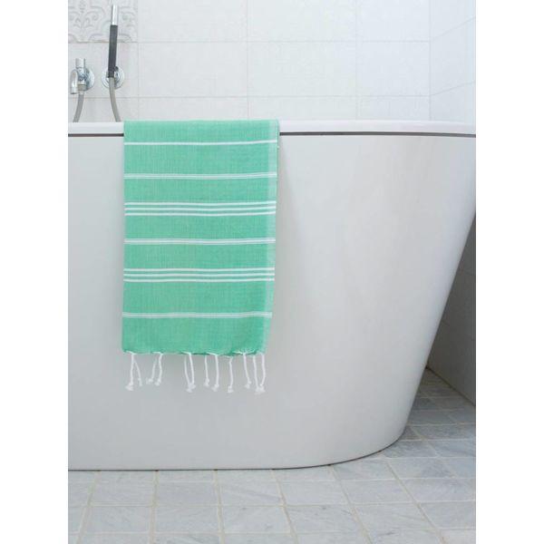 hammam handdoek Ottomania 50x100cm jade - kleine hamamdoek