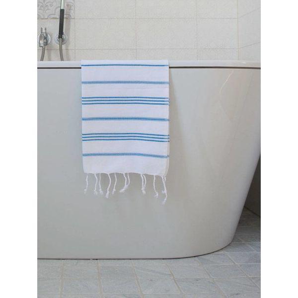 hammam handdoek Ottomania 50x100cm helderblauw - kleine hamamdoek